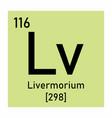 livermorium chemical symbol vector image vector image