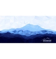 Low poly polygonal background with blue mountain vector image