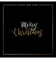 Merry Christmas gold glitter text isolated on vector image vector image
