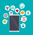 mobile applications bubbles speech social media vector image vector image