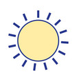 nice sun light ray weather vector image vector image