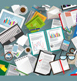 office desk with papers vector image vector image