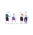 office people team communication concept vector image vector image