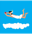 olympic god hypnos flat style vector image