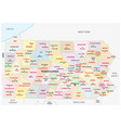 pennsylvania administrative and political map vector image vector image