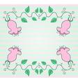 Pink pastel flower background vector image vector image