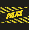 police font bold style modern typography vector image vector image