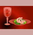 prawns with wine vector image vector image