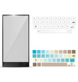 realistic mobile and mobile keyboard keypad vector image