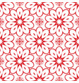 red flower seamless pattern for background vector image vector image