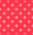red pattern with white snowflakes vector image
