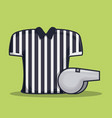 referee shirt uniform american football vector image vector image