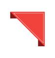 ribbon or label sticker banner flat ribbon vector image vector image