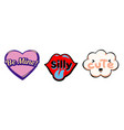 set of bright speech bubbles colorful emotional vector image