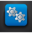 Setting gear symbol icon on blue vector image vector image