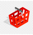 shopping cart isometric icon vector image vector image