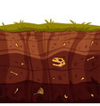 soil ground layers with grass surface vector image