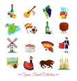 Spain For Travelers Cultural Symbols Set vector image