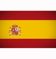 spanish flag vector image vector image