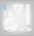 stock chemical instruments set vector image vector image