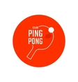 Table tennis emblem vector image vector image