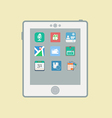 Tablet computer icon vector image vector image