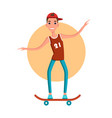 teenage skater skateboarding vector image