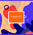 thank you poster template - modern abstract banner vector image
