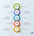timeline business vertical infographic template 5 vector image vector image