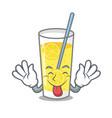 tongue out lemonade mascot cartoon style vector image vector image