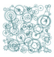 transparent cogs gears on white background vector image vector image