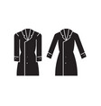 trench coat black concept icon trench coat vector image vector image
