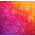 Valentines Day background with triangle texture vector image vector image