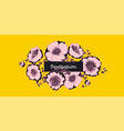 vivid yellow and pastel pink peony flowers vector image vector image