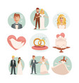 wedding bride and groom wedding vector image vector image