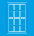 white latticed rectangle window icon outline vector image vector image