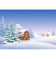 Winter village vector image vector image
