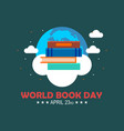 world book day logo vector image vector image