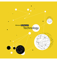 yellow technology background vector image vector image