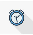 alarm clock thin line flat color icon linear vector image