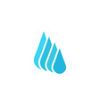 Droplet fresh water logo mockup cleaning or liquid vector image