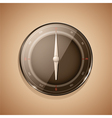 3d compass sepia vector image vector image
