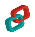 3d link chain icon vector image