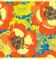 abstract floral seamless pattern pop art style vector image