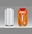 aluminum beverage can realistic mockup set vector image vector image