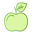 apple flat icon fruit color icons in trendy flat vector image