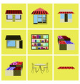 assembly flat icons shop interior vector image