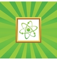 Atom picture icon vector image vector image