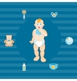 baby boys set vector image