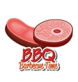 bbq party best meat vector image